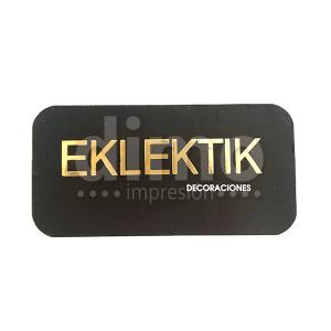 tarjetas de presentación estampado dorado y brillo UV